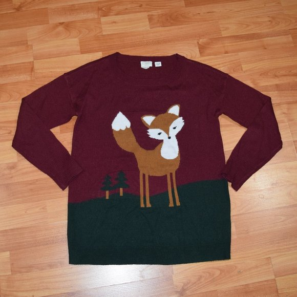 Cato Other - CATO GIRLS Sz L (14-16) Fox Sweater Tunic Length